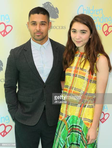 Rowan Blanchard and Wilmer Valderrama attend the Children Mending Hearts 9th Annual Empathy Rocks Fundraiser on June 11 2017 in Beverly Hills...
