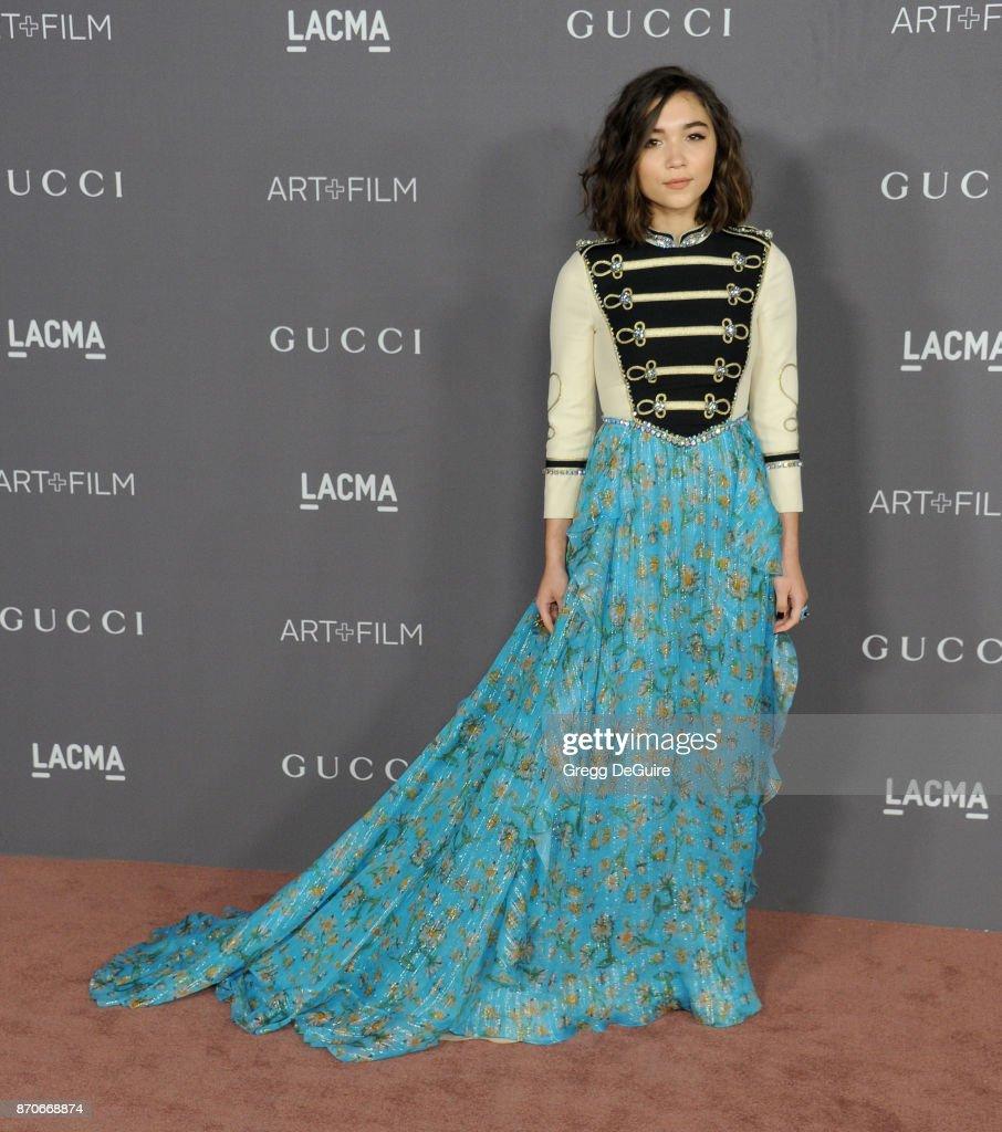 Rowan Blanchard arrives at the 2017 LACMA Art + Film Gala honoring Mark Bradford and George Lucas at LACMA on November 4, 2017 in Los Angeles, California.