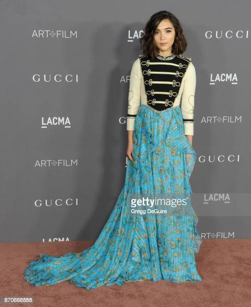 Rowan Blanchard arrives at the 2017 LACMA Art Film Gala honoring Mark Bradford and George Lucas at LACMA on November 4 2017 in Los Angeles California