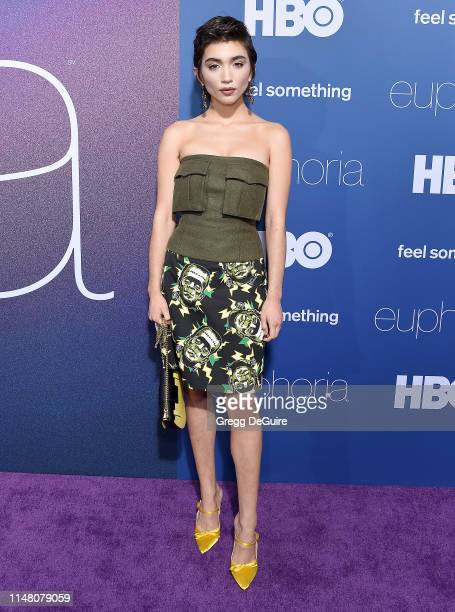 Rowan Blanchard arrives at the LA Premiere Of HBO's Euphoria at The Cinerama Dome on June 4 2019 in Los Angeles California