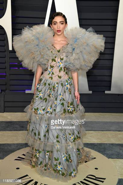 Rowan Blanchard attends 2019 Vanity Fair Oscar Party Hosted By Radhika Jones Arrivals at Wallis Annenberg Center for the Performing Arts on February...