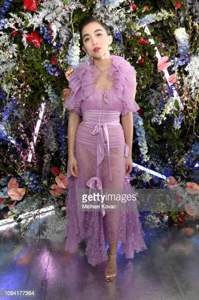 Rowan Blanchard attends JNSQ Rose Cru debuts alongside Rodarte FW/19 Runway Show at Huntington Library on February 5 2019 in Pasadena California