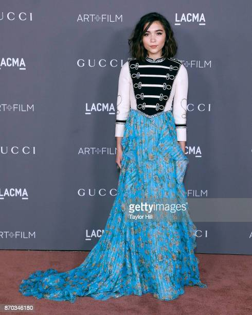 Rowan Blanchard attends the 2017 Art Film Gala at LACMA on November 4 2017 in Los Angeles California