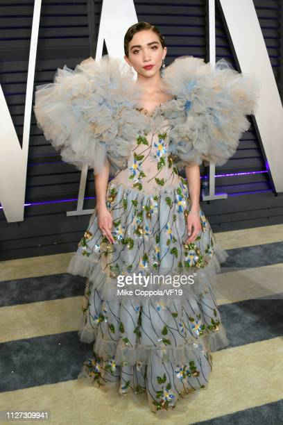 Rowan Blanchard attends the 2019 Vanity Fair Oscar Party hosted by Radhika Jones at Wallis Annenberg Center for the Performing Arts on February 24...