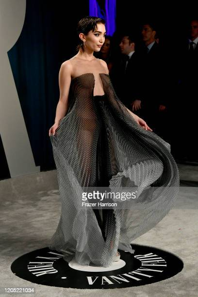 Rowan Blanchard attends the 2020 Vanity Fair Oscar Party hosted by Radhika Jones at Wallis Annenberg Center for the Performing Arts on February 09...