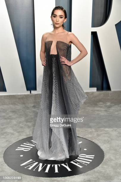 Rowan Blanchard attends the 2020 Vanity Fair Oscar Party hosted by Radhika Jones at Wallis Annenberg Center for the Performing Arts on February 09,...