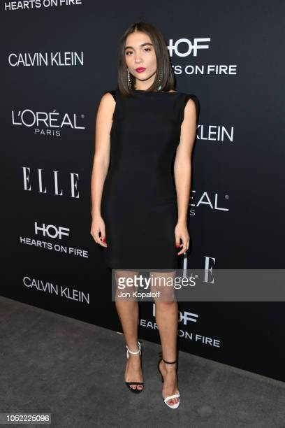 Rowan Blanchard attends the 25th Annual ELLE Women in Hollywood Celebration at Four Seasons Hotel Los Angeles at Beverly Hills on October 15 2018 in...