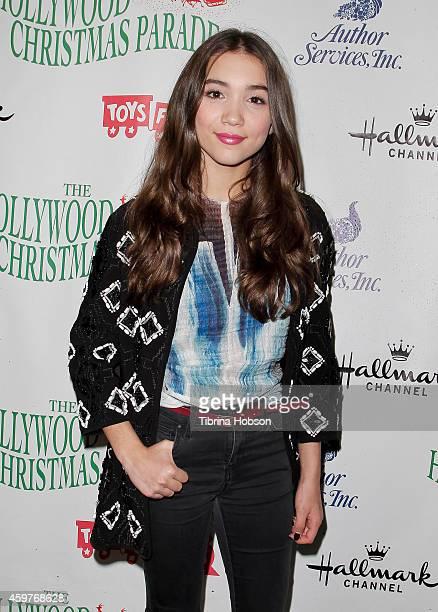 Rowan Blanchard attends the 83rd annual Hollywood Christmas parade on November 30 2014 in Hollywood California