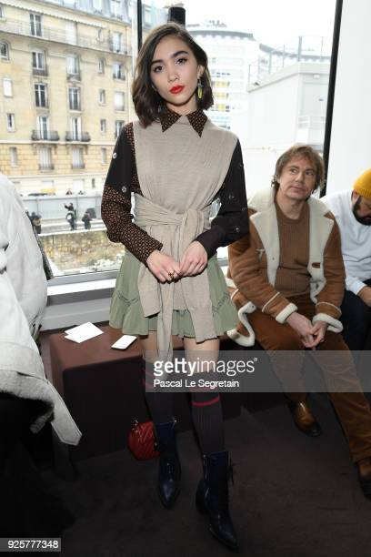 Rowan Blanchard attends the Chloe show as part of the Paris Fashion Week Womenswear Fall/Winter 2018/2019 on March 1 2018 in Paris France