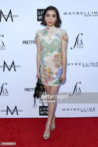 Rowan Blanchard attends The Daily Front Row's 4th Annual Fashion Los Angeles Awards at Beverly Hills Hotel on April 8 2018 in Beverly Hills California