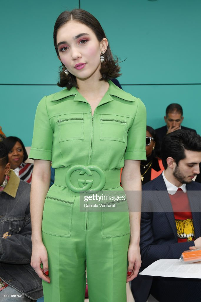Rowan Blanchard attends the Gucci show during Milan Fashion Week Fall/Winter 2018/19 on February 21, 2018 in Milan, Italy.