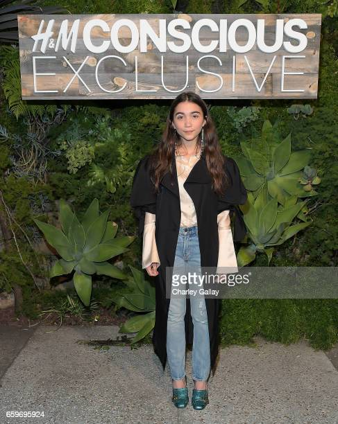 Rowan Blanchard attends the HM Conscious Exclusive Dinner at Smogshoppe on March 28 2017 in Los Angeles California