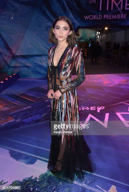 Rowan Blanchard attends the premiere of Disney's 'A Wrinkle In Time' at the El Capitan Theatre on February 26 2018 in Los Angeles California