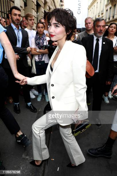 Rowan Blanchard attends the Schiaparelli Haute Couture Fall/Winter 2019 2020 show as part of Paris Fashion Week on July 01 2019 in Paris France