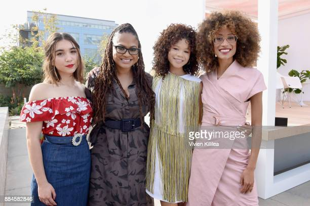 Rowan Blanchard Ava DuVernay Storm Reid and Elaine Welteroth attend The Teen Vogue Summit LA Keynote Conversation with A Wrinkle In Time director Ava...