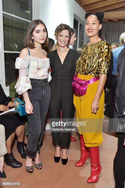 Rowan Blanchard Cindi Leive and Tracee Ellis Ross attend Conde Nast The Women March's Cocktail Party to Celebrate the One Year Anniversary of the...