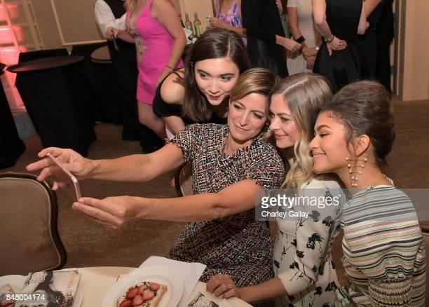 Rowan Blanchard Cynthia Leive Jaime King and Zendaya at the Women Making History Awards at The Beverly Hilton Hotel on September 16 2017 in Beverly...