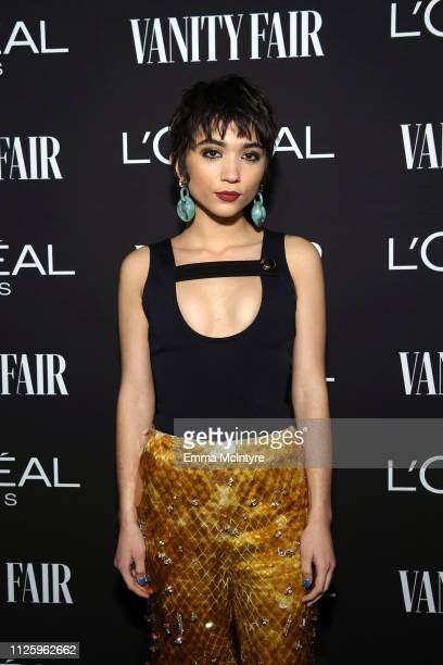 Rowan Blanchard is seen as Vanity Fair and L'Oréal Paris Celebrate New Hollywood on February 19 2019 in Los Angeles California