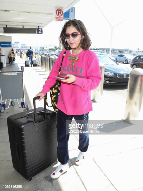 Rowan Blanchard is seen at Los Angeles International Airport on September 24 2018 in Los Angeles California