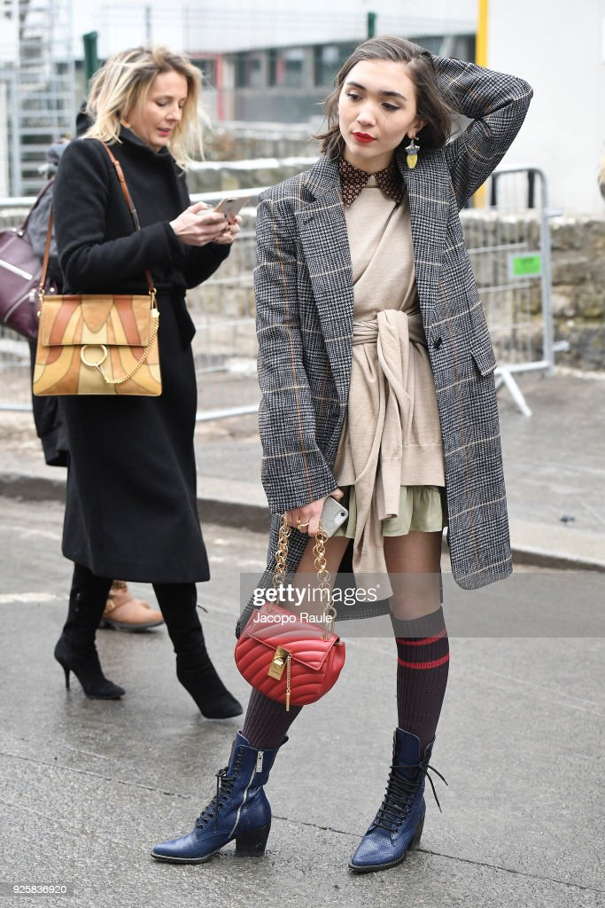 3a1a702b7e70 Celebrity Sightings   Paris Fashion Week Womenswear Fall Winter 2018 2019    Day Four