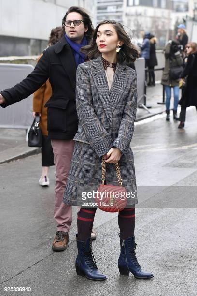 ed25bb9ae98d Rowan Blanchard is seen leaving Chloe fashion show during Paris Fashion Week  Womenswear Fall Winter