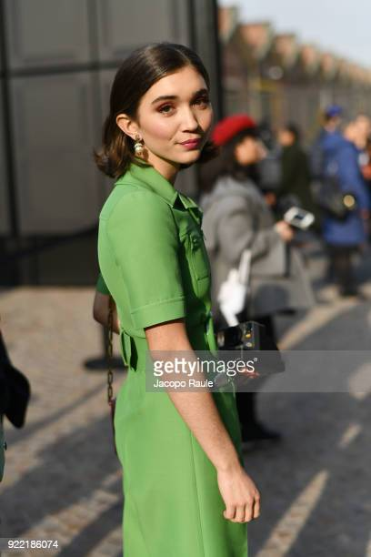 Rowan Blanchard is seen leaving the Gucci show during Milan Fashion Week Fall/Winter 2018/19 on February 21, 2018 in Milan, Italy.
