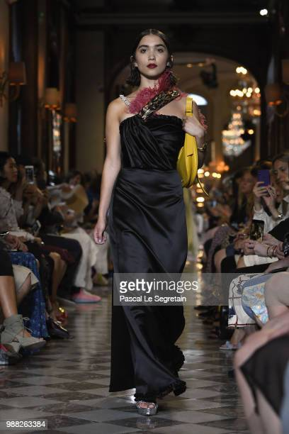 Rowan Blanchard walks the runway during Miu Miu 2019 Cruise Collection Show at Hotel Regina on June 30 2018 in Paris France