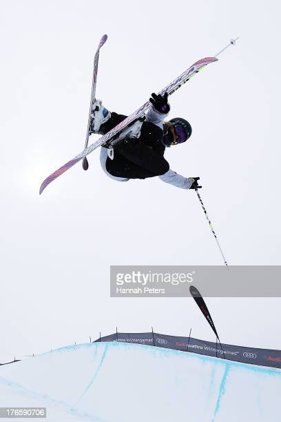 Rowan Cheshire of Great Britain competes during qualifying for the FIS Freestyle Ski Halfpipe World Cup during day two of the Winter Games NZ at...