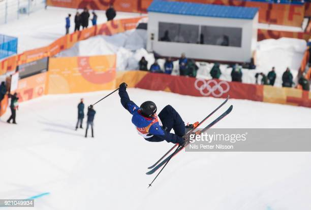 Rowan Cheshire of Great Britain during the women's Halfpipe Freestyle Skiing at Phoenix Snow Park on February 20 2018 in Pyeongchanggun South Korea