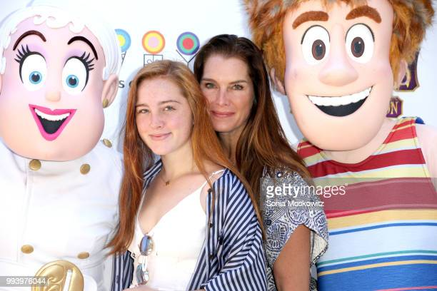 Rowan Henchy and Brooke Shields attend the Hotel Transylvania 3 Summer Vacation Special Screening on July 8 2018 in East Hampton New York