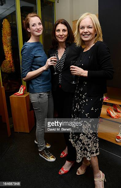 Rowan Routh Gina Bellman and Mariella Frostrup attend a cocktail party for shoe designer Rupert Sanderson hosted by Mariella Frostrup at his Bruton...
