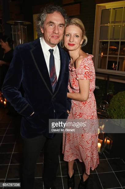 Rowan Somerville and Lainey SheridanYoung attend the dunhill and Dylan Jones preBAFTA dinner and cocktail reception celebrating Gentlemen in Film at...