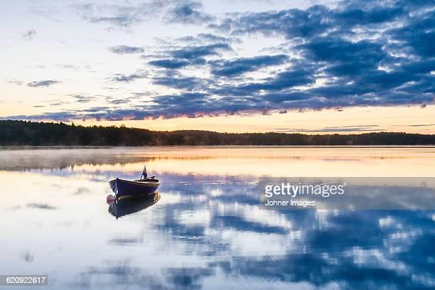 Rowboat at dusk