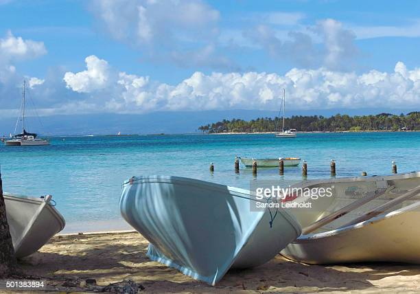 Rowboats in Saint-Anne, Guadeloupe