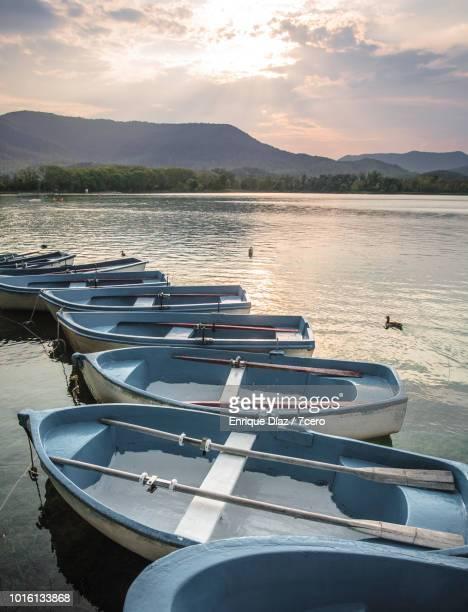 Rowboats on Banyoles Lake