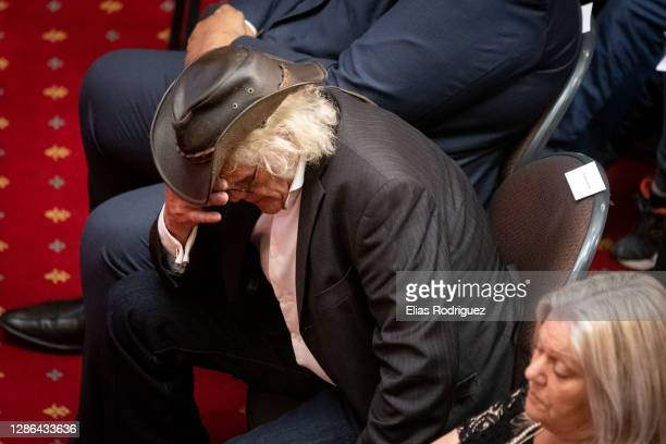 Rowdy Durbridge at the tenth anniversary of Pike River Mine disaster held at Legislative Council Chamber at Parliament on November 19, 2020 in...