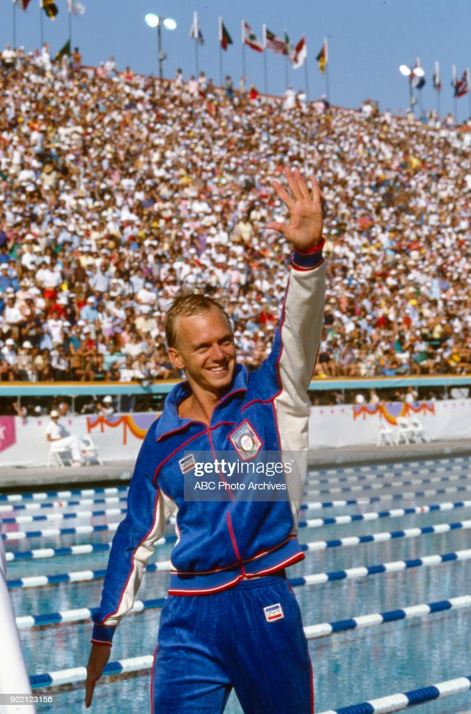 Men's Swimming 100 Metre Freestyle Competition At The 1984 Summer Olympics : News Photo