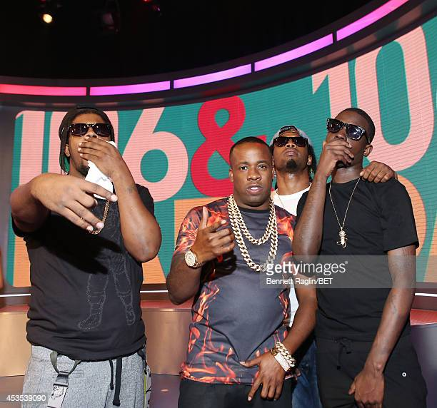 Rowdy Rebel Yo Gotti Outragous Papa Planes and Bobby Shmurda visit 106 Park at BET studio on August 11 2014 in New York City