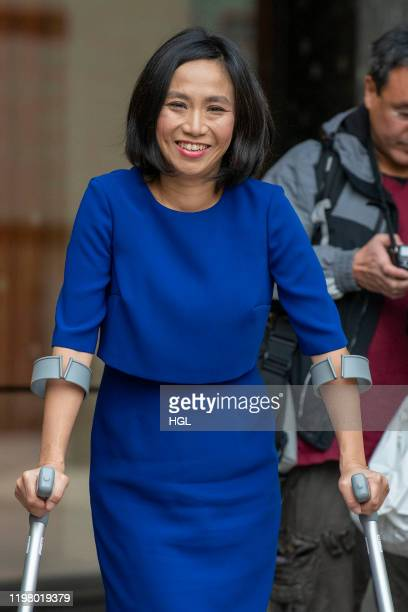 Rowena Chiu former assistant to Harvey Weinstein seen outside the ITV Studios on January 07 2020 in London England