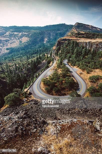 Rowena crest curve road in Oregon