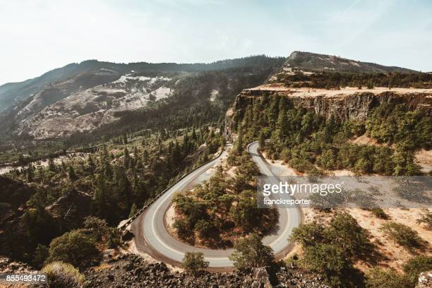 rowena crest road in usa - pacific crest trail stock pictures, royalty-free photos & images