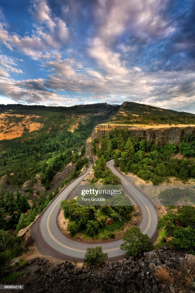 Rowena Crest Road : Stock Photo