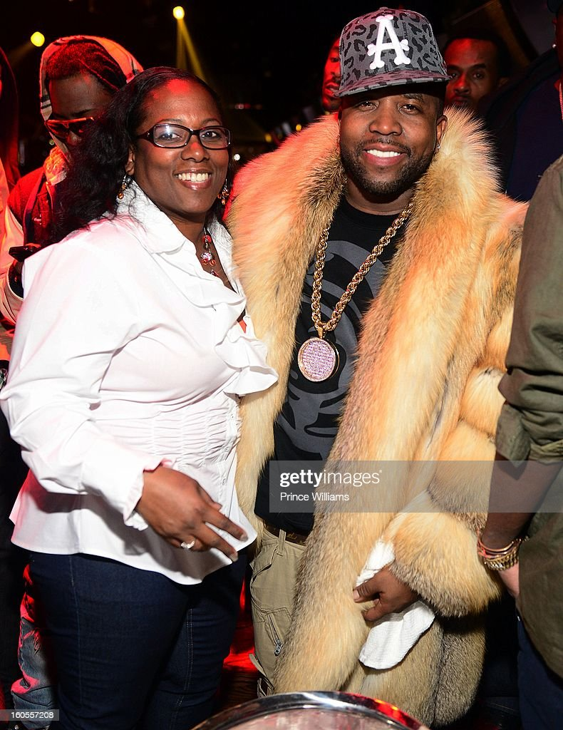 Rowena Patton and Big Boi attend the birthday celebration for Big Boi of Outkast at Club Reign on February 2, 2013 in Atlanta, Georgia.
