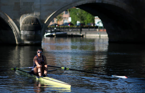 GBR: GB Rower Alice Baatz Training during the Coronavirus Pandemic