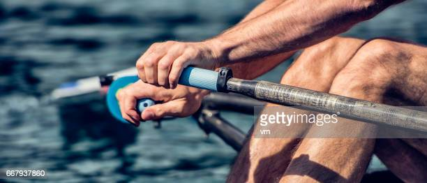 rower in action - paddle stock pictures, royalty-free photos & images