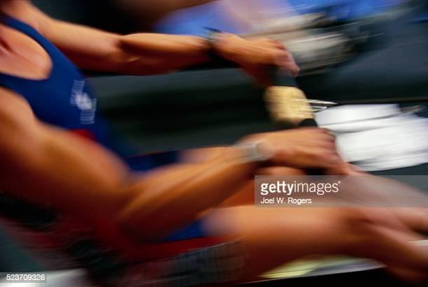 Rower Sherri Kiklas Exercising