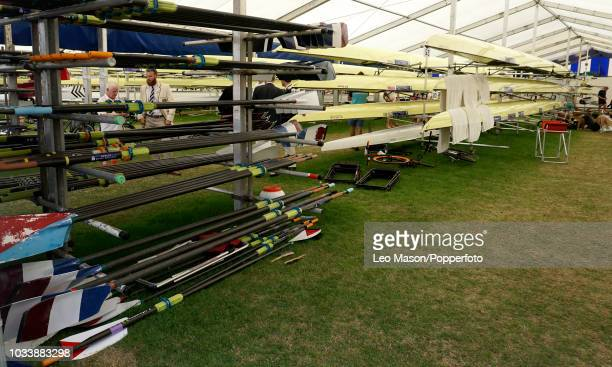 Rowers Boat Tent during the Henley Royal Regatta on The River Thames on July 6 2018 in Henley England