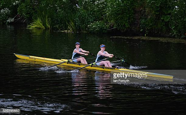 Rowers from across the country take part in the 183rd annual regatta on the River Wear on June 11 2016 in Durham England The present regatta dates...