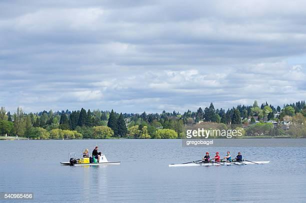 ロウアーにグリーンの湖、シアトル、ワシントン州
