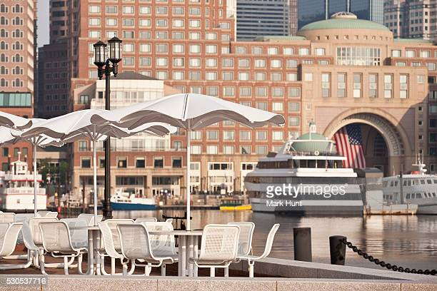 Rowes Wharf and Boston Harbor Hotel, Boston Harbor, Boston, Massachusetts, USA